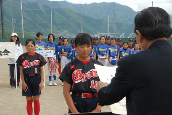 ⑦女子準優勝・行田少女ソフトボールクラブ