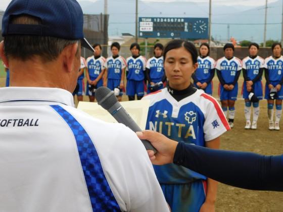 ①全日本総合女子通過認定証授与・日本体育大学