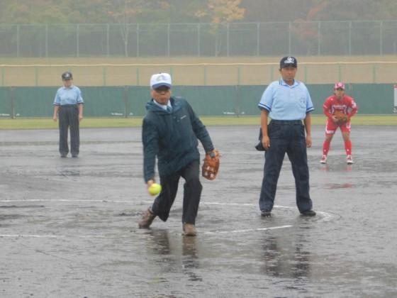 ⑨富士吉田市・副市長の始球式