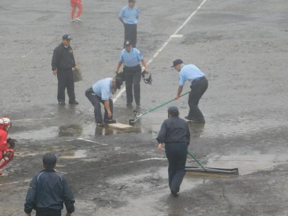 ⑬試合途中でグランド整備