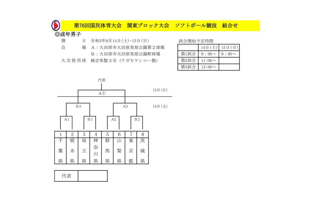 2021-76国体関東ブロック組合せ成年男子のサムネイル